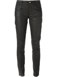 Belstaff Coated Skinny Trousers Black
