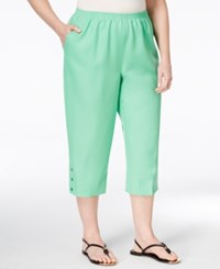 Alfred Dunner Plus Size Classics Collection Capri Pants Green