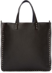 Valentino Black And Navy Reversible Rockstud Tote