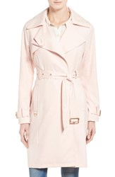 French Connection Women's Flowy Belted Trench Coat Blush