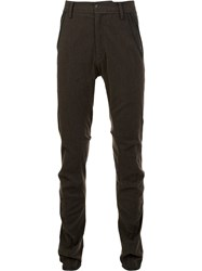Ziggy Chen Slim Fit Trousers Brown
