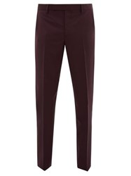 Paul Smith Slim Fit Wool Blend Tailored Trousers Purple