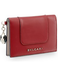 Bulgari Serpenti Forever Leather Card Holder Red