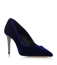 Carvela Kurt Geiger Android Velvet Pumps Female Blue