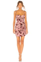 Lpa Ruched Dress With Ties Mauve