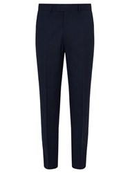 Chester Barrie By Wool Glen Check Tailored Suit Trousers Indigo