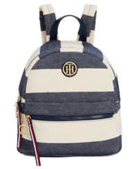 Tommy Hilfiger Rugby Small Dome Backpack Navy Natural