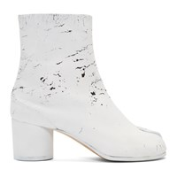 Maison Martin Margiela Ssense Exclusive Black White Out Tabi Boots