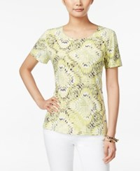 Jm Collection Mosaic Print Short Sleeve Top Only At Macy's Indian Maze