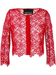 Ermanno Ermanno Cropped Jacket Women Silk Cotton Polyester 38 Red