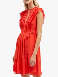 French Connection Eva Dress Fire Coral