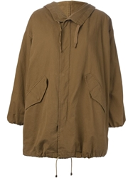 Erika Cavallini Semi Couture Oversized Parka Brown