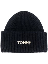 Tommy Hilfiger Knitted Beanie Hat Blue