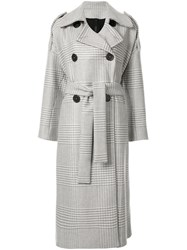 Petar Petrov Double Breasted Trench Coat Grey