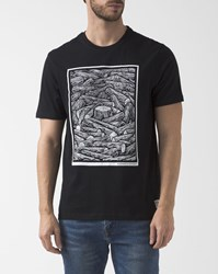 Element Black Printed Organic Cotton Logs T Shirt