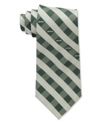 Eagles Wings New York Jets Checked Tie Team Color