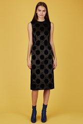 Toga Pulla Flocky Print Dress Black