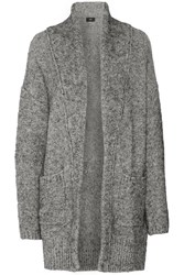 Line Claudette Wool Blend Cardigan Gray