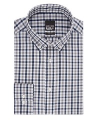 William Rast Slim Fit Plaid Dress Shirt Blue Multi
