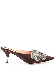 Rochas Formia Kitten Heels Brown
