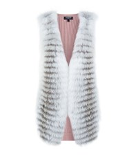 Harrods Fox Front Knitted Gilet Pink