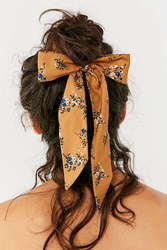 Urban Outfitters Darling Draped Bow Scrunchie Mustard
