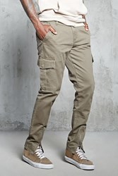 Forever 21 Zipper Ankle Cargo Pants Olive