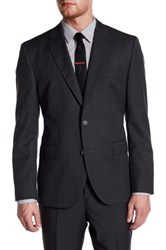Hugo Boss Jewels Two Button Notch Lapel Trim Fit Sport Coat Black