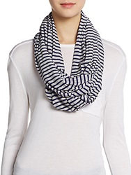 Calvin Klein Striped Infinity Scarf Grey Purple