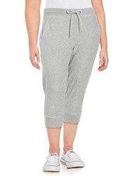 Marc New York Plus Cropped Jogger Pants Grey
