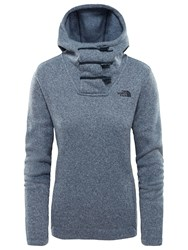 The North Face Crescent Hooded Pullover Blue Wing Teal Heather