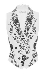 Temperley London Ivory And Black Lettie Tuva Waistcoat White