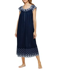 Eileen West Cap Sleeve Ballet Night Gown Blue