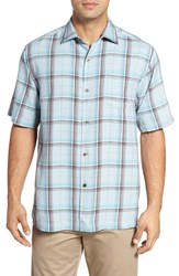 Tommy Bahama Men's Pintinga Plaid Standard Fit Short Sleeve Sport Shirt