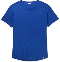 Orlebar Brown Ob T Slim Fit Cotton Jersey T Shirt Blue