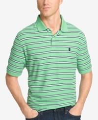 Izod Men's Striped Polo Abisinthe Green