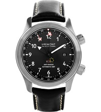 Bremont Mb111 Bz Martin Baker Stainless Steel Adn Leather Watch Black