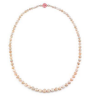 Irene Neuwirth One Of A Kind 18K Rose And White Gold Necklace With Opals Carved Pink Opal Clasp 16.68 Cts And Full Cut Diamond .21 Cts Multi