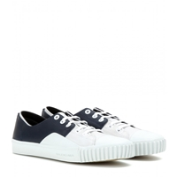 Balenciaga Young Leather Sneakers Blanc Marine