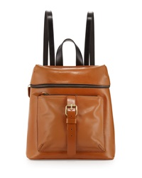 Kelsi Dagger Metro Buckle Leather Backpack Cognac