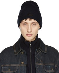 Rag And Bone Navy Merino Addison Beanie
