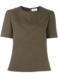 Courreges Houndstooth Top Green