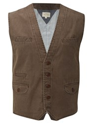 White Stuff Men's Crafted Waistcoat Mink