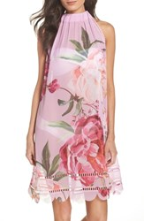 Ted Baker London Serenity Scallop Cover Up Pale Pink
