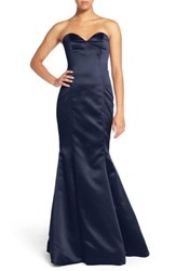 Hayley Paige Occasions Strapless Satin Trumpet Gown