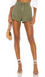 Marissa Webb Stellan Shorts In Green. Military Green