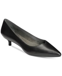Aerosoles Dress Code Kitten Heel Pumps Women's Shoes Black Leather