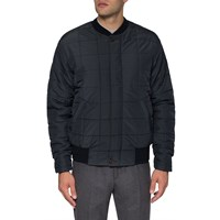 Universal Works Navy Quilted Bomber Jacket Blue