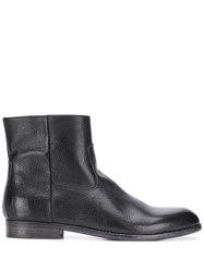 Buttero Textured Ankle Boots Black