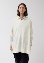 Casey Casey Wool V Neck Pullover Top Ivory